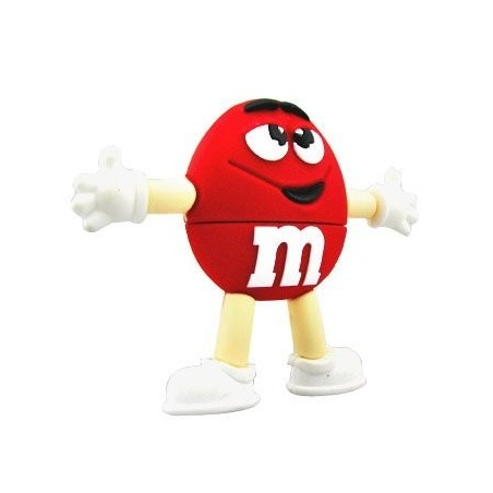 Memoria Flash - M&M - Rojo