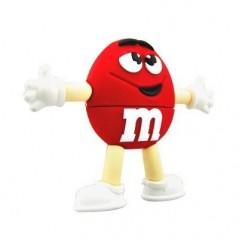 Memoria Flash - M&M - Rojo