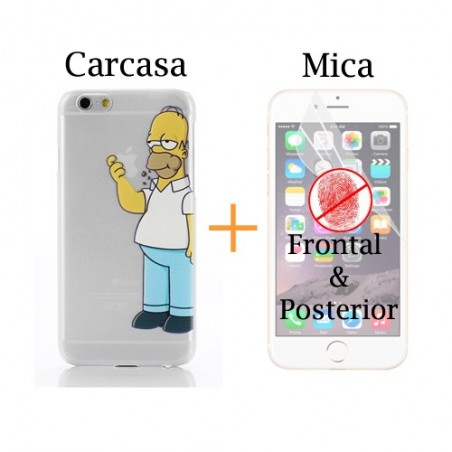 Super Pack iPhone 6 - Carcasa + Protector Antihuella Frontal & Posterior