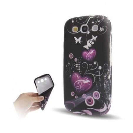 Carcasa TPU - Heart Pattern - Samsung S3