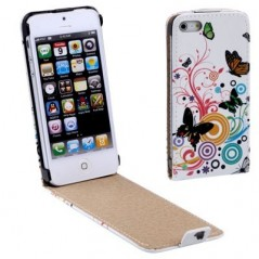 Estuche de cuero Fashion Flowers - iPhone 5 / 5S