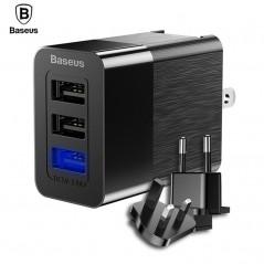 Baseus 3 Puertos USB de 2.4A para iPhone - Samsung - Xiaomi - Sony
