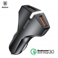 Baseus - cargador 5V 3A doble puerto USB QC3.0 de carga rápida
