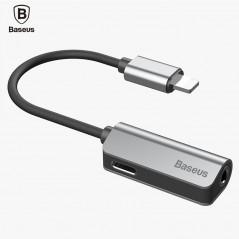 Baseus - Cable de Audio y Carga para el iphone 7 7 s - Cable Divisor con jack de 3.5mm - iphone iOS 11