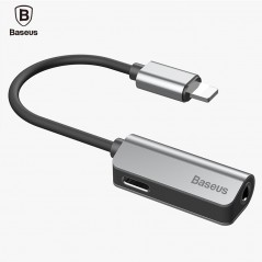 Baseus - Cable de Audio y Carga para el iphone 7 7 s - Cable Divisor con jack de 3.5mm - iphone iOS 11