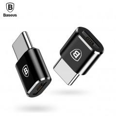 Baseus Micro USB tipo C OTG - Adaptador de enchufe del cargador Micro USB a USB-C adaptador