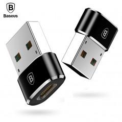 Baseus USB macho a tipo C cargador hembra adaptador OTG 5A