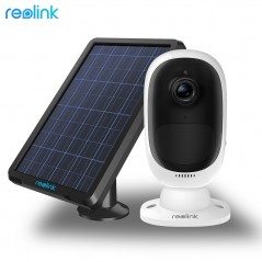 Reolink Argus - Panel Solar - Batería recargable - Video camara WiFi de 1080 p Full HD para exterior
