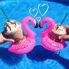 1 unidad - Mini Flamingo inflable para bebida