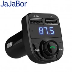 JaJaBor Transmisor FM Bluetooth Car Kit Manos Libres - Reproductor de Audio