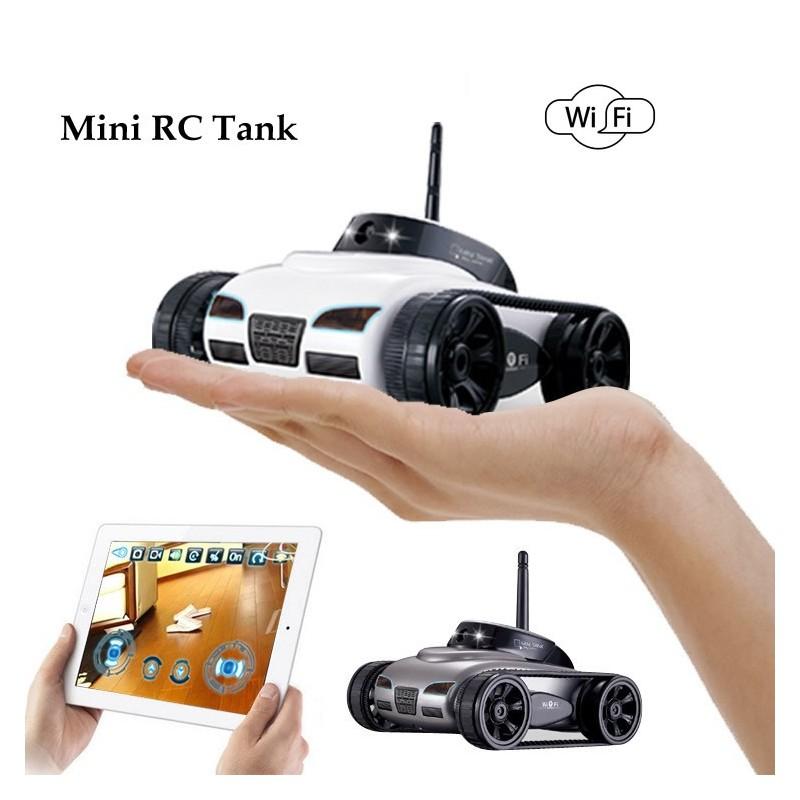 Mini RC I-Spy - Tanque Robot WiFi - Cámara de 0.3MP - Control por teléfono