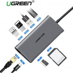 Ugreen USB HUB - USB C a HDMI - RJ45 - PD - Adaptador para MacBook - Samsung - Huawei