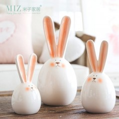 Miz 1 Pieza - Conejos - Home Decoration - Ceramica