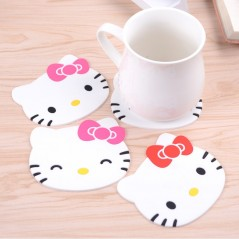 1Pc Hello Kitty - Individual de silicona - anti deslizante para tasa - Home Decoration