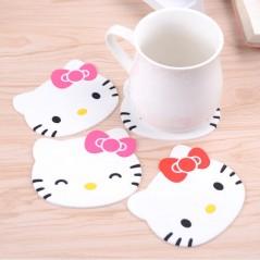 1Pc Hello Kitty - Individual de silicona - anti deslizante para tasa - Home Decoration