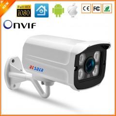BESDER - - Cámara de Video Vigilancia - Wide Angle 2.8mm Outdoor IP Camera PoE 1080P 960P 720P - Waterproof