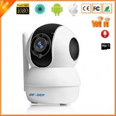 BESDER Smart Mini - Cámara IP - WiFi 1080P - Interior - Doble vía - Detector de movimiento - IR Nocturno - Baby Monitor
