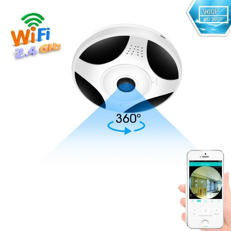 BESDER - Cámara de seguridad Panorámica WiFi 360 - CCTV