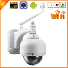 ONVIF - Cámara de seguridad con Domo - IP Camera WiFi 1080P 960P Mini Outdoor - CCTV - Auto Zoom SD Card Slot