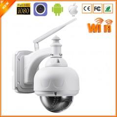 ONVIF - Cámara de seguridad con Domo - IP Camera WiFi 1080P 960P Mini Outdoor - CCTV - Auto Zoom SD Card Slot