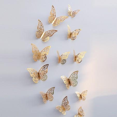 12 Pcs - 3D Butterfly