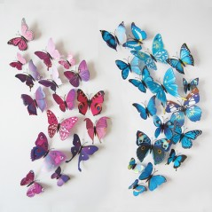 12pcs/lot - 3D PVC Wall Stickers - Butterflies