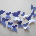 12pcs/lot - 3D PVC Wall Stickers - Butterflies