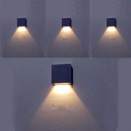 7 Colores Modernos - Lampara de Aluminum 60*60*12mm
