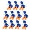 10 pares - tapones de oído suave de silicona - para natación