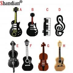 Usb flash drive - Música - Guitarra - Notas - Piano