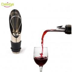 Delidge - 1 unid 2 en 1 - Tapón y vertedor de vino - acero inoxidable