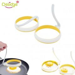 Delidge 2 unids/set - molde circular para huevo frito