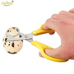 Delidge 1 unid - Tijeras para huevos de codorniz - Acero inoxidable