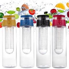 Botella de infusión de frutas de 800 ml portátil