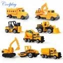 8 unids/set Mini - Tractor - camión - volquete - grúa - aplanadora - montacarga - excavadora