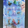 6 unids/set - sello Anna y Elsa - Disney Frozen