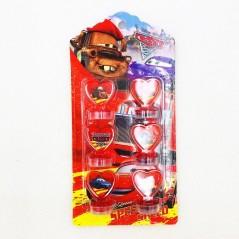 6 unids/set Rayo McQueen - sello de goma para niños - Fiesta de cumpleaños