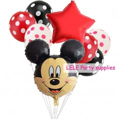 8 unids/set Minnie Mickey Mouse - Globos de decoración