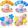 Globos Pepa Pig - Feliz cumpleaños - Decoración