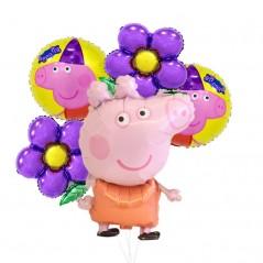 6 unids - Pepa Pig - Feliz cumpleaños - Decoración