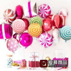 10 unids/lote - Globos de caramelo lollipop redondo