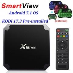 TV BOX - X96 mini Android 7,1 - Smart TV - Soporte 4K 2,4 GHz WiFi X96mini IPTV Set top box