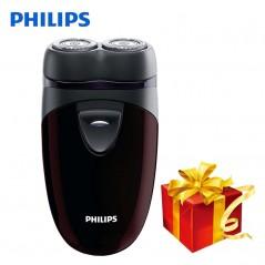 Philips Original - Afeitadora eléctrica PQ206 con dos cabezas - batería AA y contorno Facial