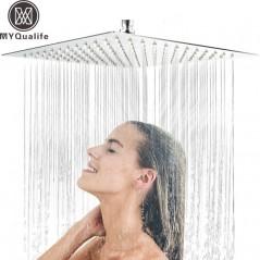 30 cm * 30 cm ducha de acero inoxidable 12 pulgadas - Tipo lluvia - ultra-delgada