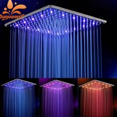 10 pulgadas 25 cm * 25 cm - Ducha de baño LED