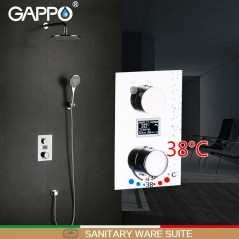 GAPPO - Ducha y termostato digital - montaje para pared