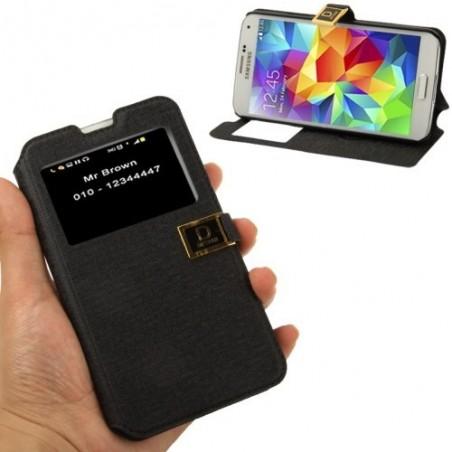 Estuche de Cuero & TPU - Samsung S5
