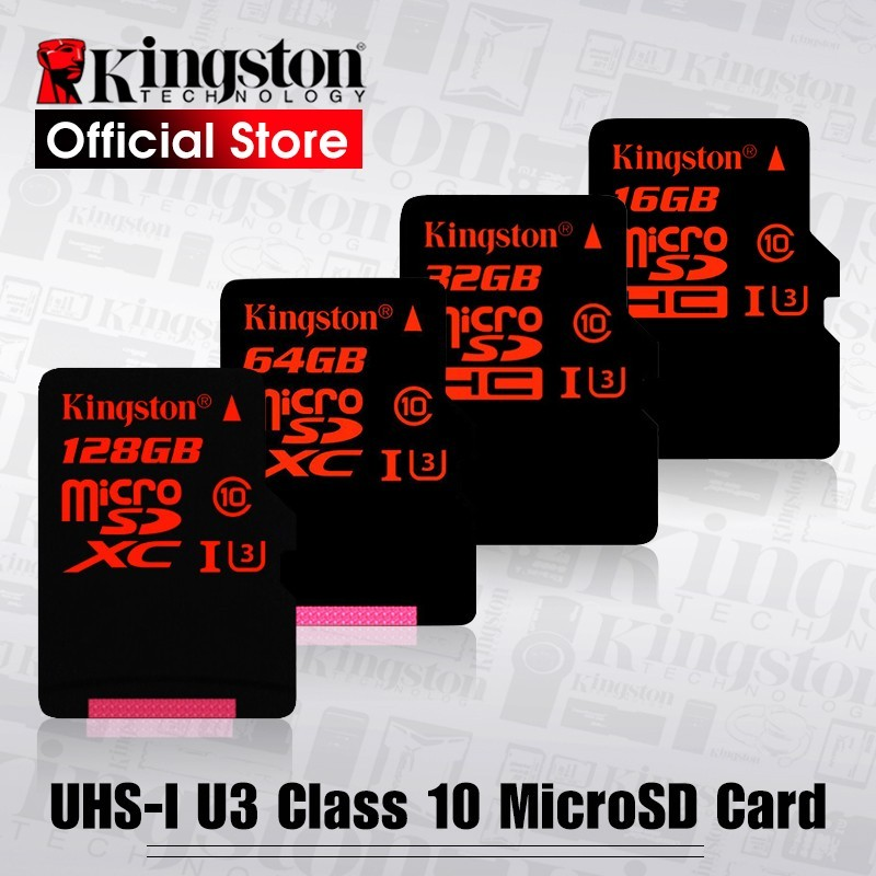Kingston - Micro SD - Clase 10 - soporte HD 3D 4 K vídeo