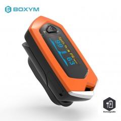 BOXYM - Monitor de presión arterial para dedo - Pantalla LCD - SpO2 PR OLED recargable