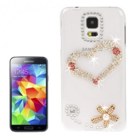 Carcasa 3D Heart Pattern - Samsung S5